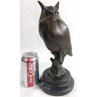 Modern Owl Bronze Sculpture