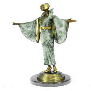 Fashion Runway Designer Bronze Sculpture