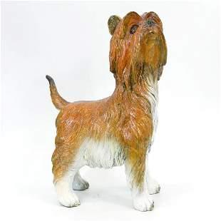 Special Patina Silky Terrier Dog Bronze Sculpture