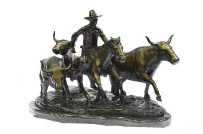 Stampede Bronze Sculpture