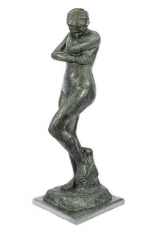 """32"""" Tall Green Patina Famous Art Work Eve by French"""