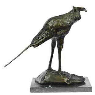 Wildlife Stork Bird Bronze Statue
