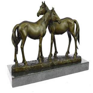 Horses in Love Bronze Sculpture