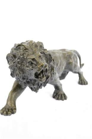 Wildlife Edition African Lion Bronze Sculpture