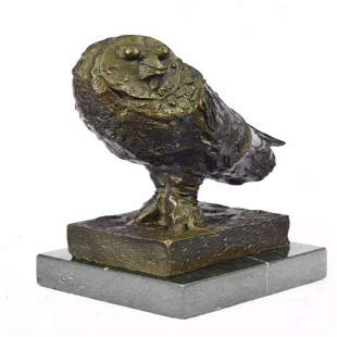 Modern Art Owl Bronze Sculpture