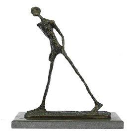 Modern Stuck Big Man Walking Bronze Statue