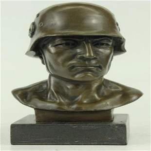 German Soldier Army Bronze Sculpture