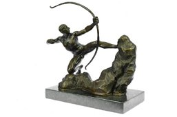A Man With Bow Bronze Sculpture