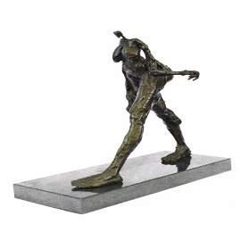 Modern Walking Man Bronze Sculpture