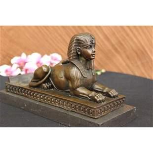 Sphinx Egyptian Bronze Statue