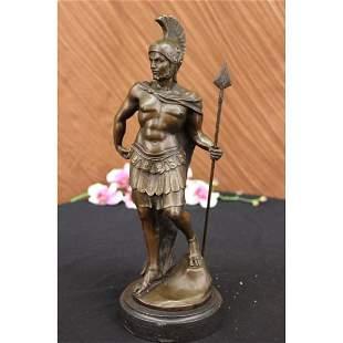 Roman Knight Warrior Bronze Statue