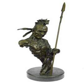 Native American Indian Chief Bronze Sculpture