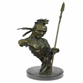 Native American Indian Chief Bronze Sculpture