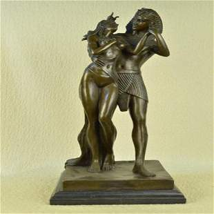 Egyptian Loving Couple Bronze Sculpture