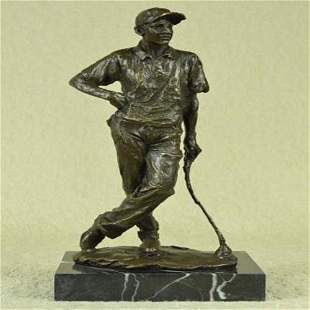 Champion Golfer Tiger Woods Bronze Sculpture