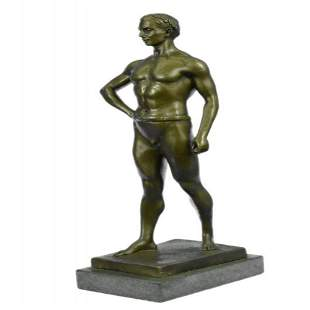 Athletic Roman God Bronze Sculpture