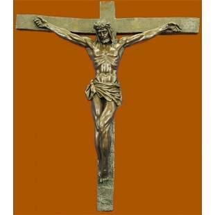 Crucifixion Cross of Jesus Christ Wall Bronze Sculpture