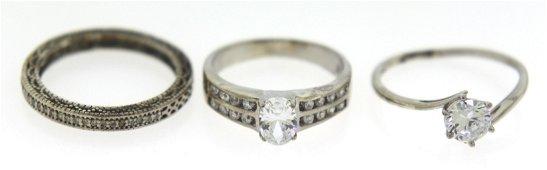 Lot of 3 Vintage Sterling Silver Rings