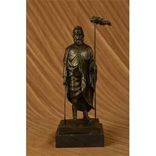 Greek God Saturn Holding Scythe Bronze Sculpture