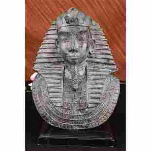 Thomas Egyptian Bronze Bust Sculpture