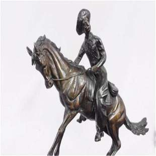 Cowboy Bronze Sculpture