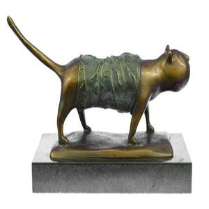 Fat Cat Modern Art Bronze Sculpture