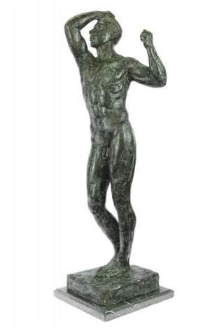 Nude Male Man Bronze Sculpture
