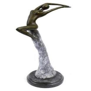 Nude sexy girl Bronze Statue
