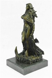 French Sorceress with Curvaceous Body Bronze Statue