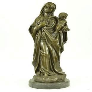 Mother Virgin Mary Bronze Statue