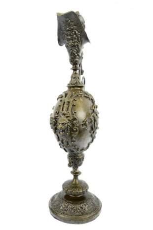 Elegant Decorative Spout Vase Bronze Sculpture