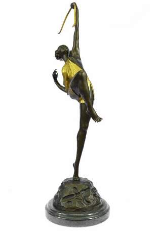 Female Archer Bronze Sculpture