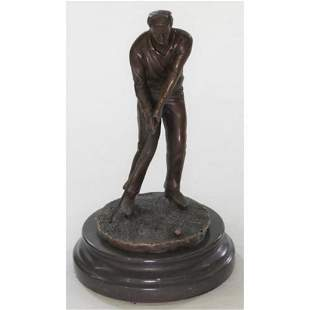 Sports Memorabilia Golf Club Bronze Figure