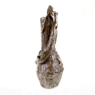Mermaid Vase Bronze Sculpture Statue