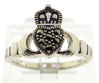Vintage Sterling Irish Claddagh Ring