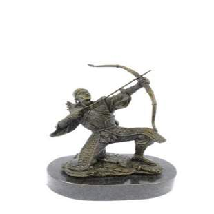 Ancient Samurai Warrior Bronze Sculpture