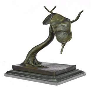 Melting Clock Bronze Sculpture