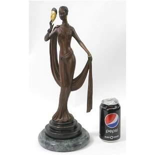 Mask Woman Bronze Sculpture