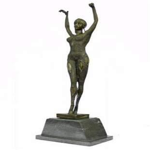 Bronze Art Deco Dancer Sculpture