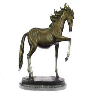 Racing Horse the Final Furlong Bronze Sculpture