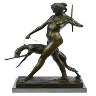 Diana the Hunter Bronze Sculpture