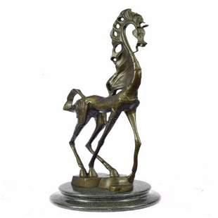 Modern Abstract Horse Bronze Sculpture