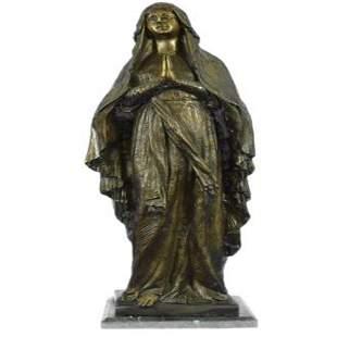 Virgin Mary Holy Statue Bronze Sculpture