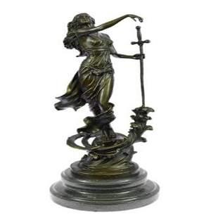 Justice Lady Bronze Sculpture