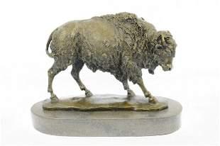 American Buffalo Bison Bronze Sculpture