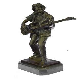 Guitar Player Bronze Sculpture