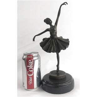 Graceful Ballerina Bronze Statue