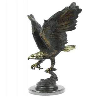 Eagle Catch Fish Bronze Sculpture