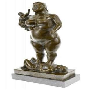 Mother Father Child Bronze Sculpture