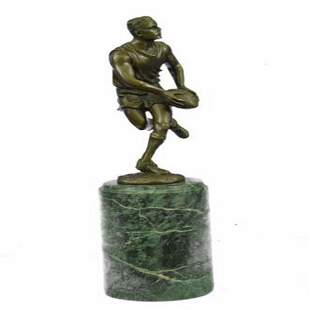Rugby Player Trophy Bronze Statue